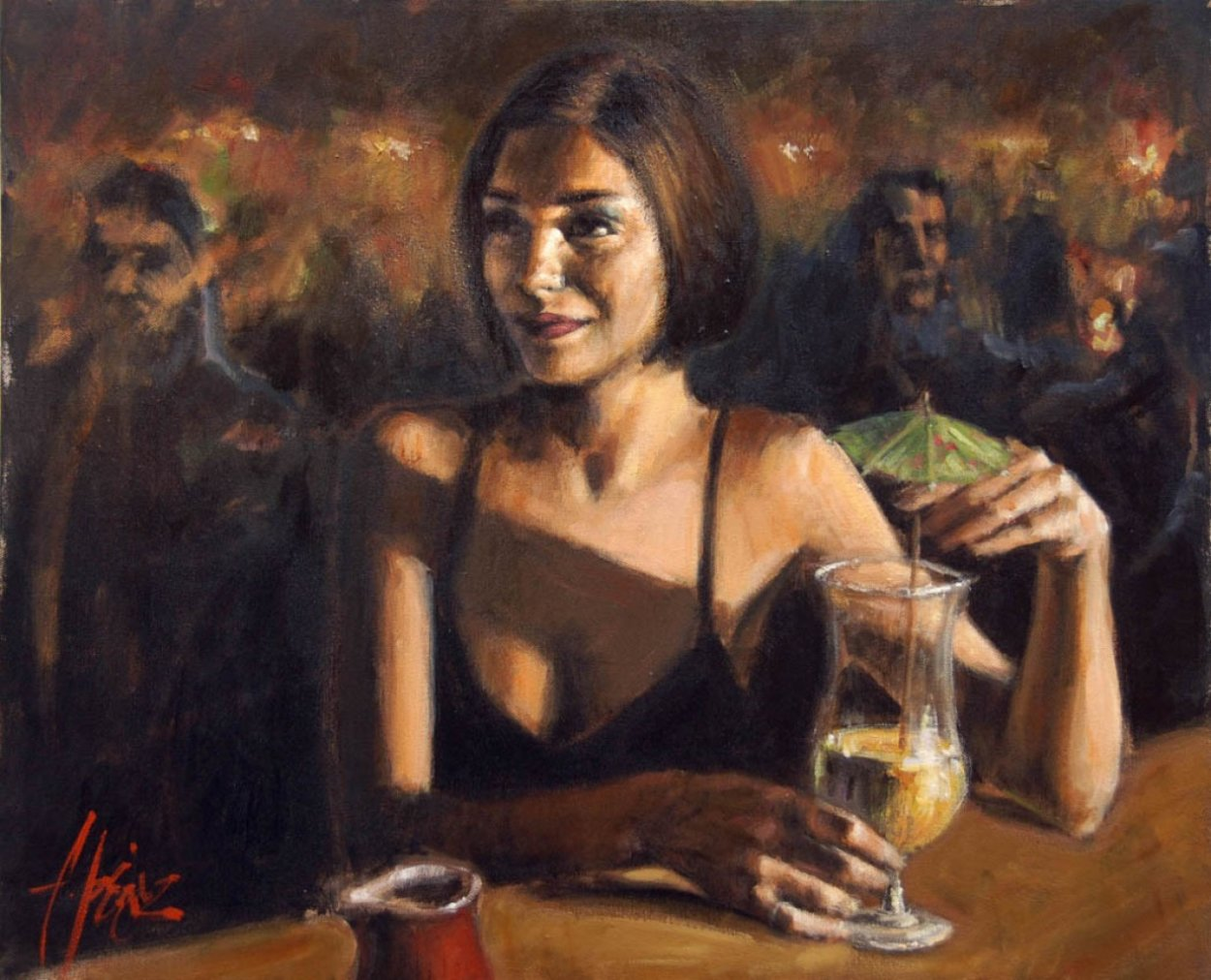 Cocktail in Maui AP 2005 Limited Edition Print by Fabian Perez