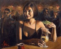 Cocktail in Maui AP 2005 Limited Edition Print by Fabian Perez - 0