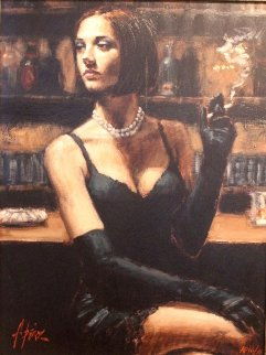 Study for Brunette At the Bar I AP 2005 Limited Edition Print - Fabian Perez