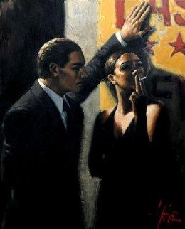 El Verso 2007 43x27 Original Painting by Fabian Perez