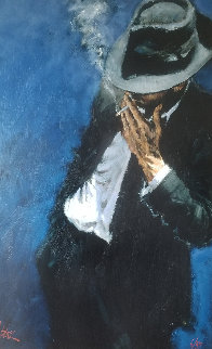 Man in Black Suit Limited Edition Print by Fabian Perez