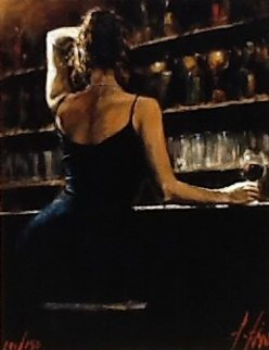 Lettizia Embellished Limited Edition Print by Fabian Perez