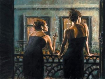 Balcony At Buenes Aires IV 2006 Limited Edition Print by Fabian Perez