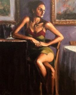 Wait 30x24 Original Painting by Fabian Perez