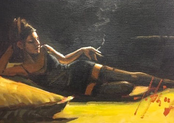 Georgina 2017 22x25 Original Painting by Fabian Perez