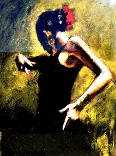 Dancer in Black 2007 Limited Edition Print by Fabian Perez