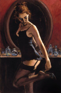Medias Negras III 2006 Embellished Limited Edition Print - Fabian Perez