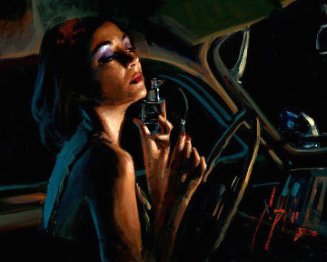 Glamour III 2018 Embellished Limited Edition Print by Fabian Perez
