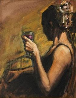 Paula 30x26 Original Painting - Fabian Perez