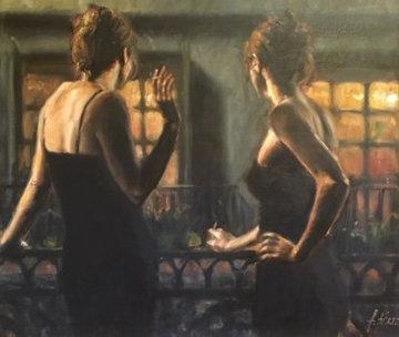 Cenicientas De Las Noches 32x38 Huge Original Painting - Fabian Perez