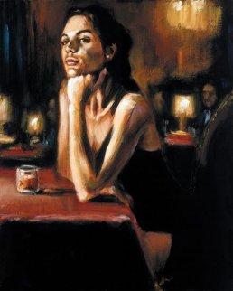 Natalia At Las Brujas 28x34 Original Painting - Fabian Perez