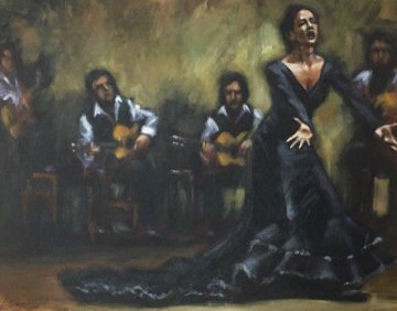 Fiesta En Andalucia 30x36 Original Painting - Fabian Perez