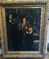 When the Story Begins 42x52 Huge Original Painting by Fabian Perez - 1