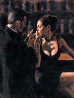 When the Story Begins 42x52 Huge Original Painting by Fabian Perez - 0