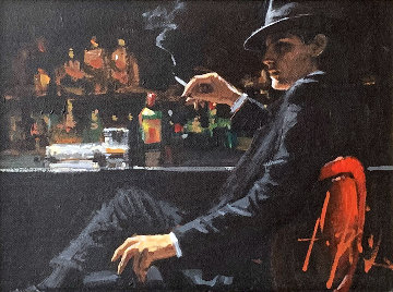 Whiskey At Las Brujas V 22x25 Original Painting - Fabian Perez