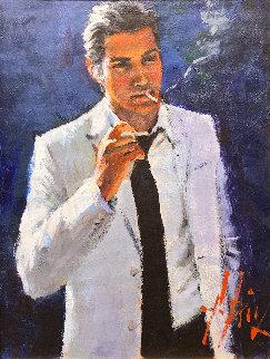Marcus 25x22 Original Painting - Fabian Perez