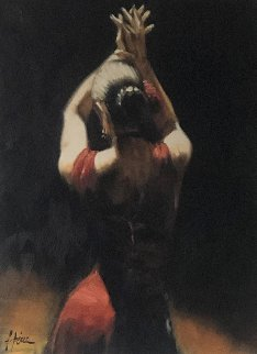 Tango (Red) Embellished Limited Edition Print - Fabian Perez