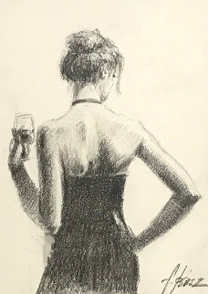 Girl With Red Hair 23x20 Works on Paper (not prints) - Fabian Perez
