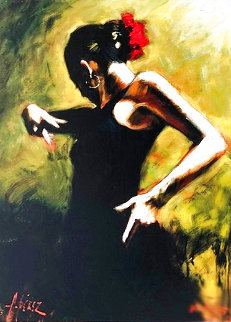 Dancer in Black AP Limited Edition Print - Fabian Perez