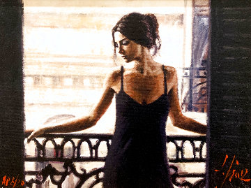 Luciana At the Balcony AP Limited Edition Print - Fabian Perez