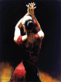 Flamenco Dancer Embellished  Limited Edition Print - Fabian Perez