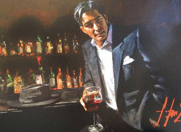 Black Suit Red Wine AP 2013 Limited Edition Print - Fabian Perez