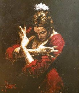 Tersiopelo Rojo 24x20 Original Painting - Fabian Perez