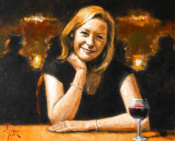 Catherine 2004 33x39 Original Painting - Fabian Perez