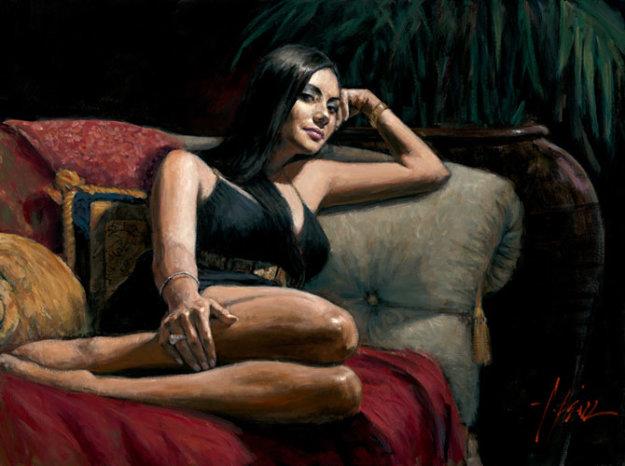 Diamante 2007 30x40 Original Painting by Fabian Perez