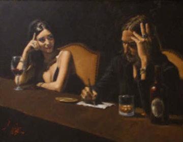 Monica and Fabian 2007 36x48 Original Painting by Fabian Perez