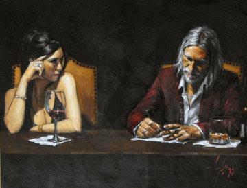 Monica and Fabian II 2007 40x30 Original Painting by Fabian Perez
