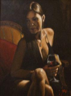 Monica 2007 40x30 Original Painting - Fabian Perez