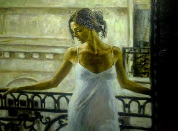 Balcony At Buenos Aires I PP Embellished Limited Edition Print - Fabian Perez