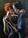 Study for Baladas En Buenos Aires Original Painting - Fabian Perez