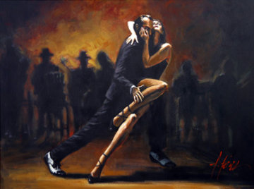 Tango Mural 2009  49x65 Limited Edition Print by Fabian Perez