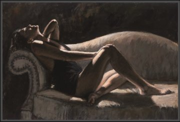 Paola on the Couch 2007 Super Huge Limited Edition Print - Fabian Perez
