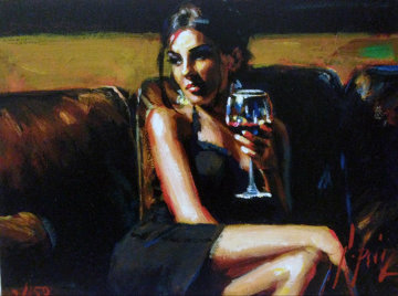 Red on Yellow III 2011  Limited Edition Print - Fabian Perez