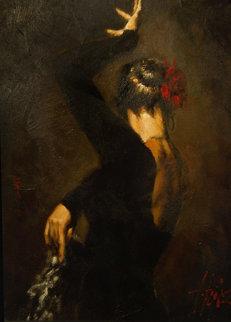 Terciopelo Negro II 2005 25x31 Original Painting - Fabian Perez