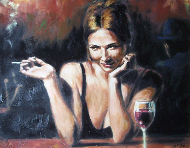 Selling Pleasure  AP 2003 Embellished Limited Edition Print by Fabian Perez