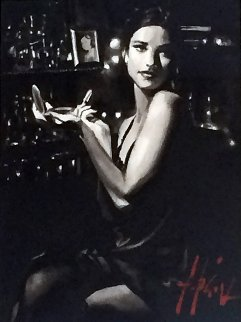 Marissa IV 2012 30x30 Original Painting - Fabian Perez