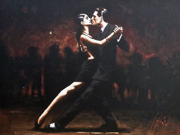 Tango in Paris (With Black Suit) 2008 53x43 Original Painting - Fabian Perez