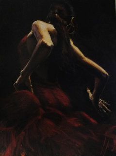 Dancer in Red 2010 Limited Edition Print by Fabian Perez