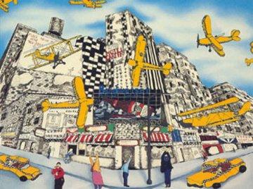 Hailing a Sky Cab 1990 Limited Edition Print - Linnea Pergola
