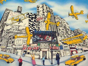 Hailing a Sky Cab 1990 Limited Edition Print by Linnea Pergola