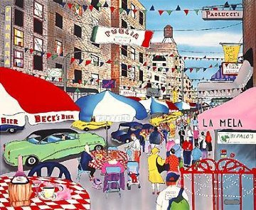 Afternoon in Little Italy 1992 Limited Edition Print - Linnea Pergola
