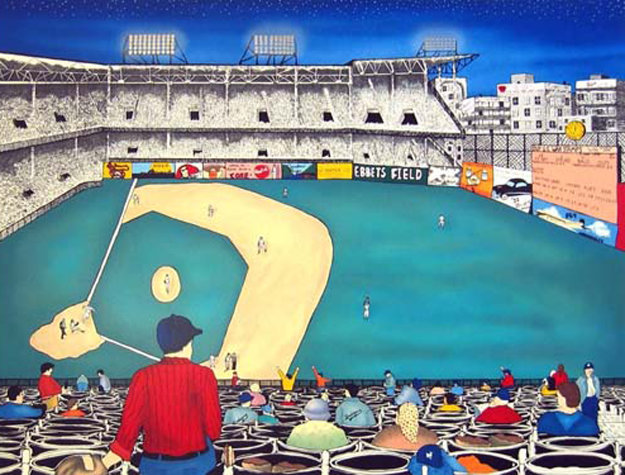 Old Ball Game (Ebbets Field) 1993 Limited Edition Print by Linnea Pergola