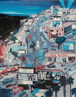Sunset Over Sunset 1991 Hollywood Ca 1992 Limited Edition Print by Linnea Pergola