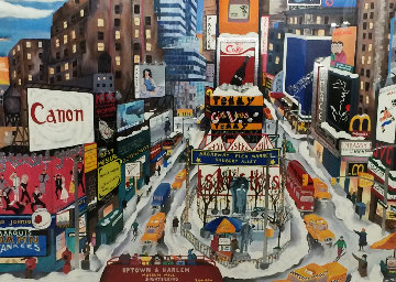 Broadway NYC: The Great Way 1995 Limited Edition Print - Linnea Pergola
