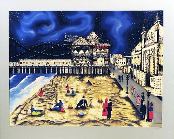 Seaside Nights - Northern Lights 1991 Limited Edition Print - Linnea Pergola