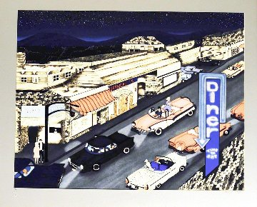 Cruise Night 1990 Limited Edition Print by Linnea Pergola